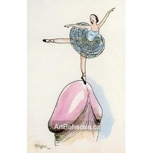 Baletní pirueta na špičkách rozkoše (Slabikář 1938) X