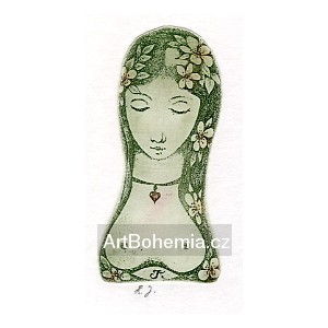 Dívčí hlavička se srdíčkem na krku, opus 875