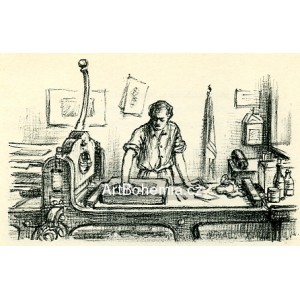 Tiskař při práci (Viktor Stretti), opus 150