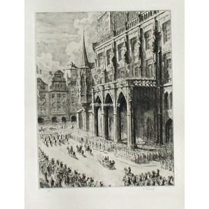 Náměstí v den 24.května 1934 (Staroměstské náměstí)