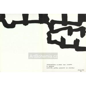 Dessin a lencre de Chine (Hommage à Georges Braque)