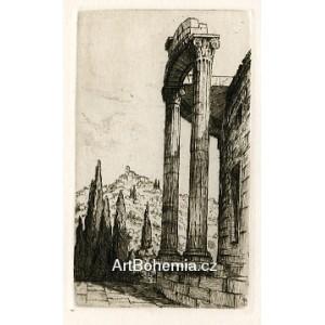 Antický chrám - PF 1925 Tavík František Šimon