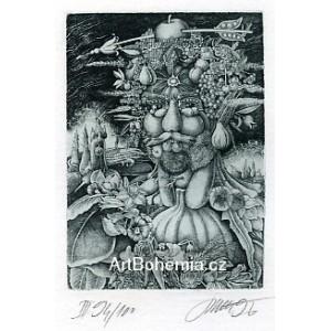 Giuseppe Arcimboldo: Vertumnus - Rudolf II. (zelená varianta)