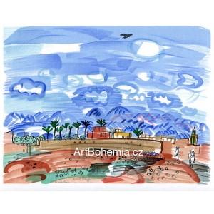 Au Maroc, Marrackech (Lettre à mon peintre)
