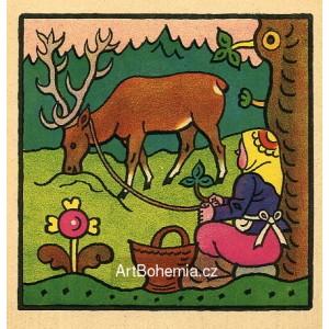 Alena. Louka, louka zelená, pásla Alena na ní jelena...