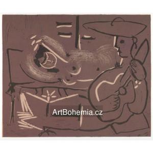 Femme couchée et guitariste, opus 918 (1959)