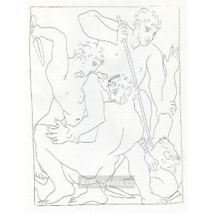 Combat pour Andromede entre Persée et Phinée (Les Métamorphoses d´Ovide)