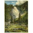 Vodopád Krimmlský, nejhořejší část (Obrazy z Alp)