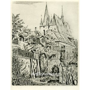 Slaný, kostel (1936)