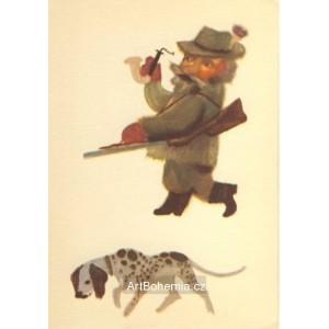 Hajný s loveckým psem (Zima 8)