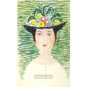 Dáma s květinovým kloboukem