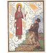 Anděl a kmotr s děckem