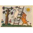 Mlsná koza - Mlná koza nechce trávu, po jablíčkách zvedá hlavu...