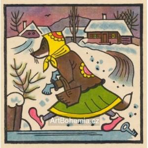 Běžela liška po ledu, ztratila klíček od medu...