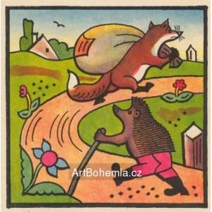 Běží liška k Táboru, nese pytel zázvoru...
