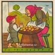 Byla jedna babka, prodávala jabka...