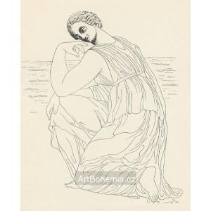 Klečící dívka u moře (Ovidius)