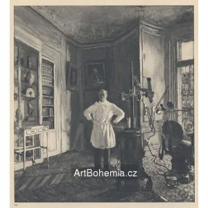 Le docteur L.Viau dans son cabinet dentaire (1937)