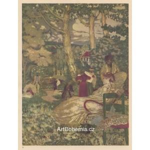 Femme assise dans un jardin (1898)