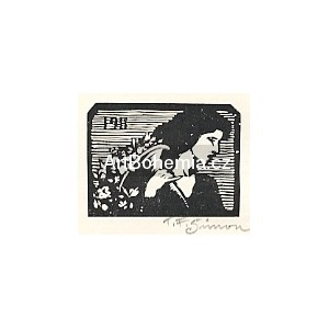 Dívka s rohem hojnosti - PF 1911 T.F.Šimon