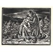 Matka s dítětem a zajíčky - PF 1934 Ferdiš Duša