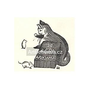 Kočka a dvě myšky - PF 1934 Anna Macková