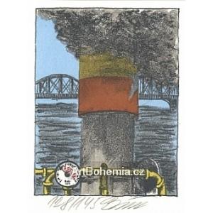 Parník u Železničního mostu
