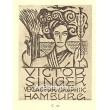 Dívka držící v ruce květ - EXL Viktor Singer, opus 16 (1913)