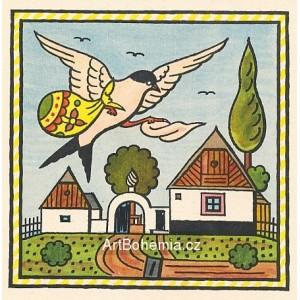 Vlaštovička na podzim. Vlaštovička letí na jih, přečká zimu v teplých krajích…