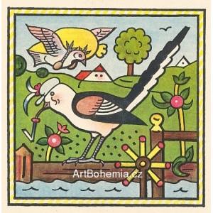 Mlynařík. Mlynařík je pěkný ptáček, v mlýně nosí černý fráček…