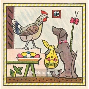 Pes a slepička