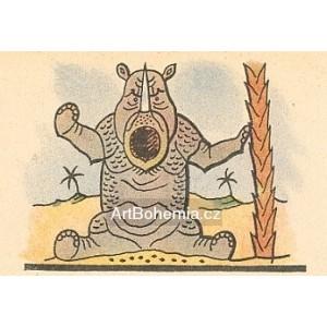 Zlobící se nosorožec