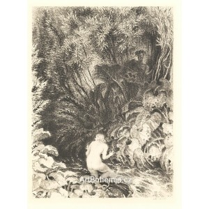 Satyr a dívka u potoka (1938)