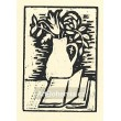 Zátiší džbánu s květinou a knihou, opus 41