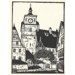 Der weisse Turm in Rothenburg o.T.