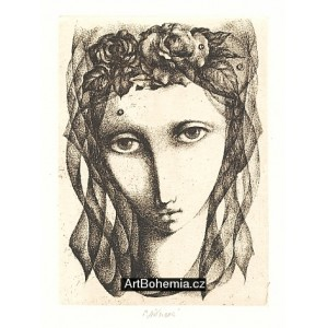 Dívčí hlava v závoji s růžičkami (k nedožitým 85* Jaroslava Seiferta)