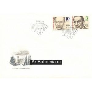 Bohuslav Martinů + Jaroslav Heyrovský - obálka prvního dne
