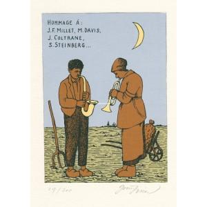 Hommage à J.F.Millet, M.Davis, J.Coltrane, S.Steinberg (Úsměvy Grafičanky)