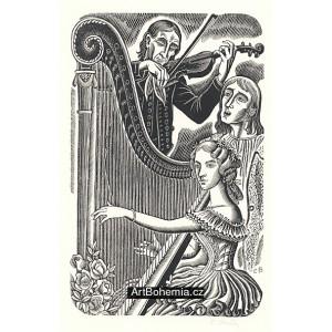 Harfenice s houslistou, opus 730 (Božena Němcová: Pohorská vesnice)