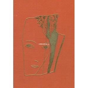 Dívčí tvář za stromem (červená varianta)