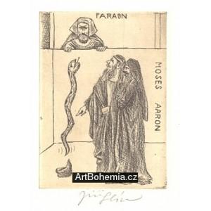 Faraon, Moses a Aaron (Deset ran egyptských) (Biblos)