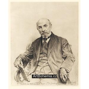 Prof.Dr.Josef Zubatý, president České akademie věd a umění (1930)