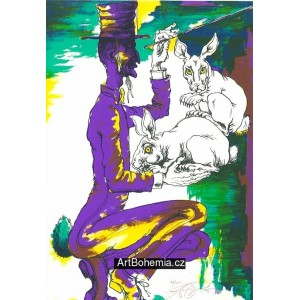 Kouzelník s dvěma králíčky