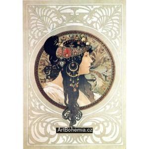 Byzantská hlava - Tmavovláska (1897)