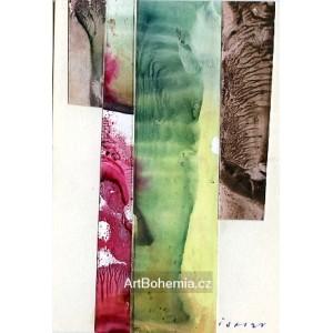 Vystřihovaná abstrakce - PF 1985 Josef Istler