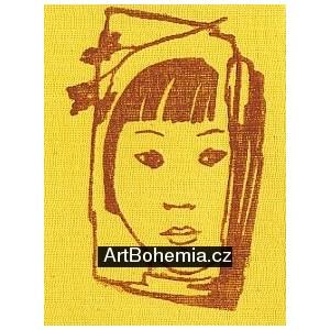Čínské děvčátko (žlutá varianta)