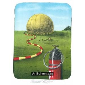 Nafukování žlutého balónu (Plácky)