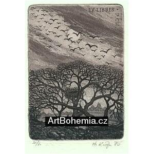 Propletené stromy s čapím hnízdem