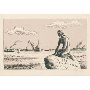 Akt na mořském pobřeží