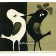 Dva ptáčci se zobáčky, opus 411 (zelená varianta)